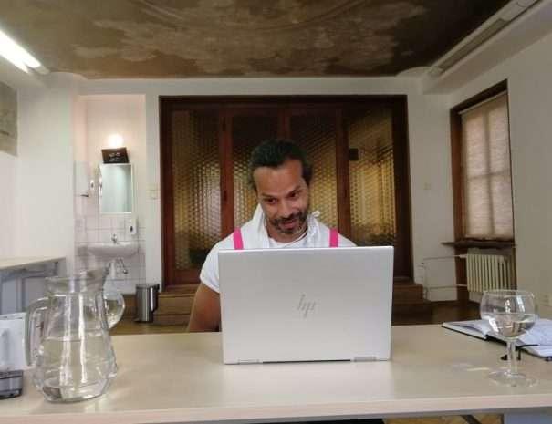 Roman at the online tour